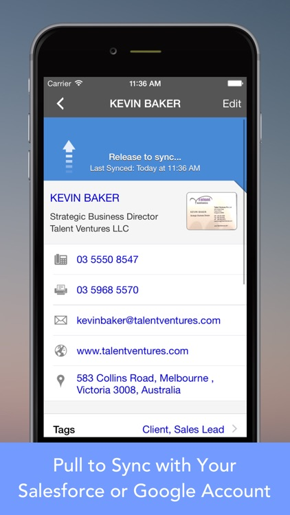 CardWiz Pro: Biz Card Reader screenshot-0