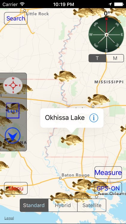 Louisiana-Mississippi: Fishing Lakes