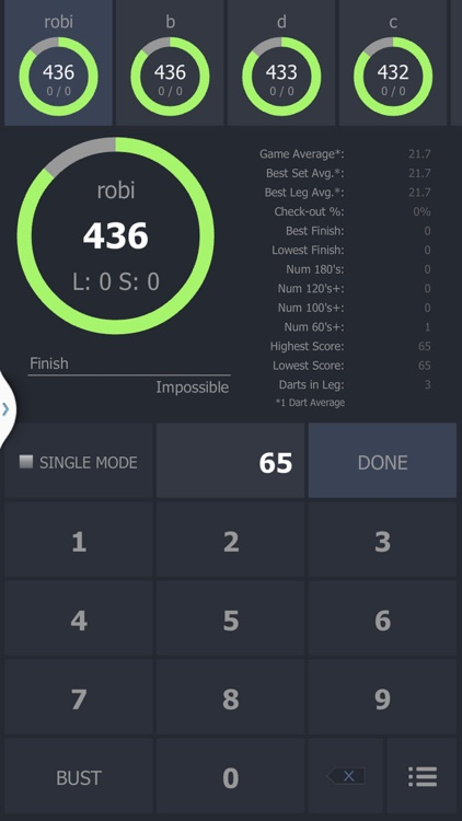 Darts Scoreboard Znappy screenshot-2