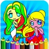 Princess Series Coloring Books For Kids - Drawing Painting Little Mermaid Games