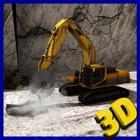 Mega broca montanha guindaste jogo operador 3d icon