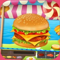 Hamburger Star Cooking Game - maker food burger for girls and boys