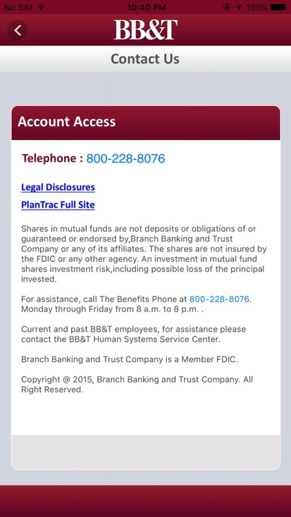 BB&T PlanTrac Mobile screenshot-4