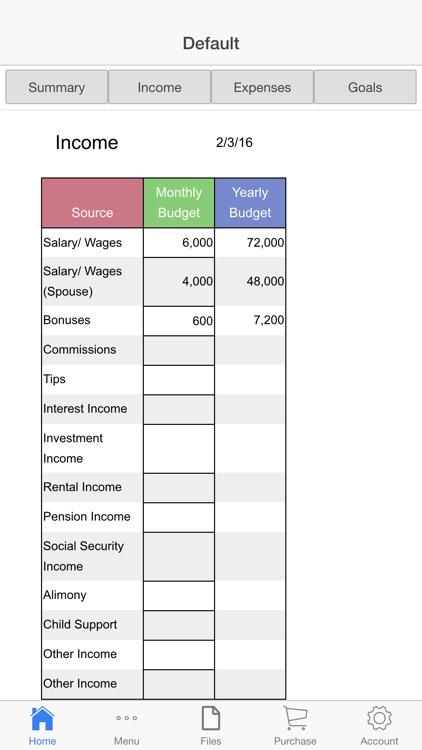 Home Budget Ledger