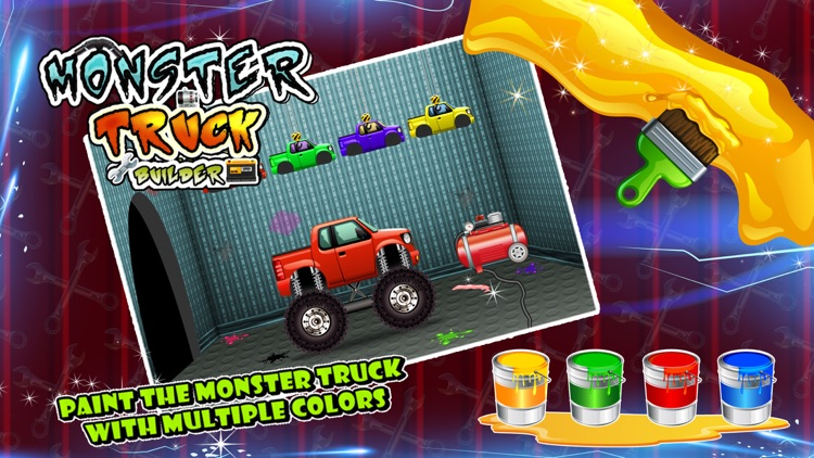 Monster Truck Builder - Build 4x4 vehicle in this crazy mechanic game for kids screenshot-3