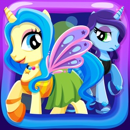 Little Princess Pony Descendants – Pets Dress Up Games for Girls Free