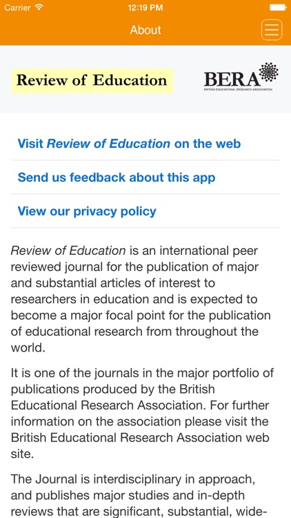 Review of Education