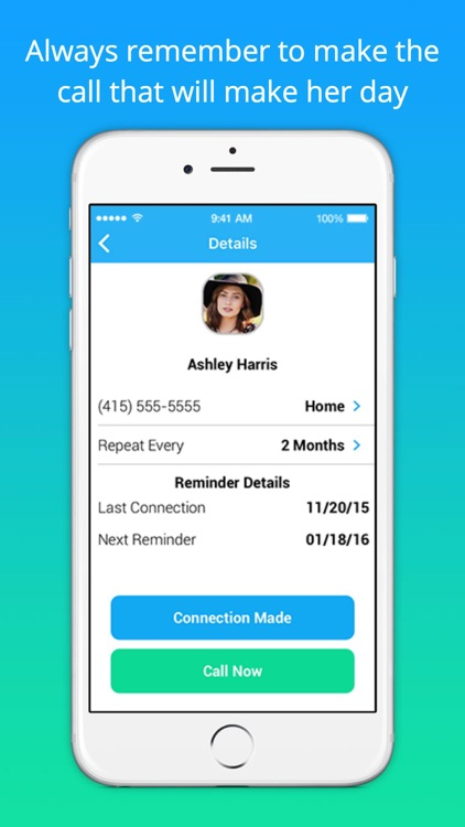 Real Connection - Phone call reminders screenshot-3