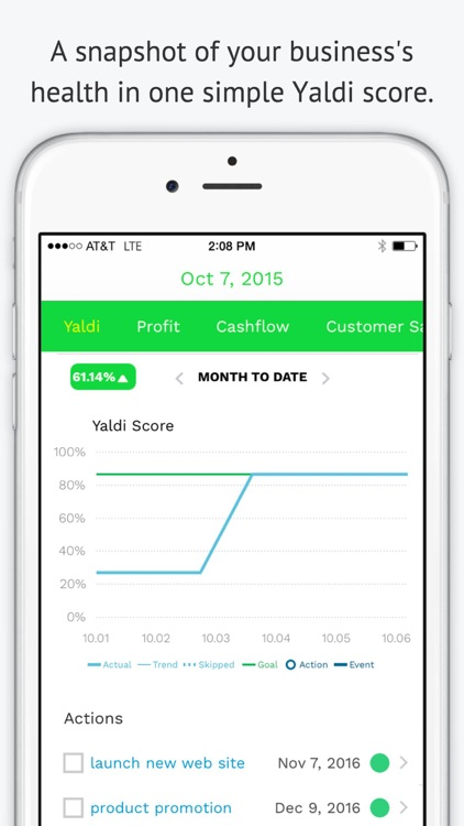 Yaldi: KPIs for Small Business screenshot-0