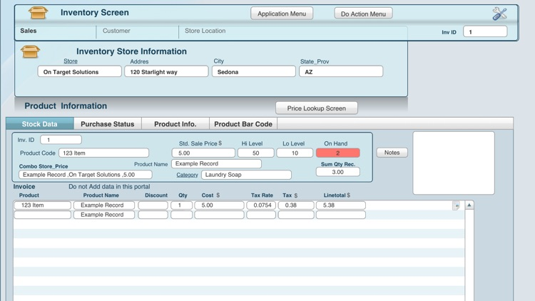 Point of Sale DB screenshot-0