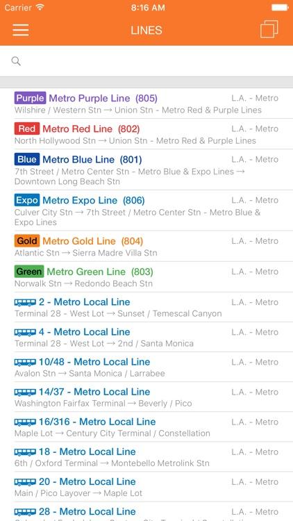 ezRide LA METRO - Transit Directions for Bus, Subway and Light Rail including Offline Planner screenshot-4