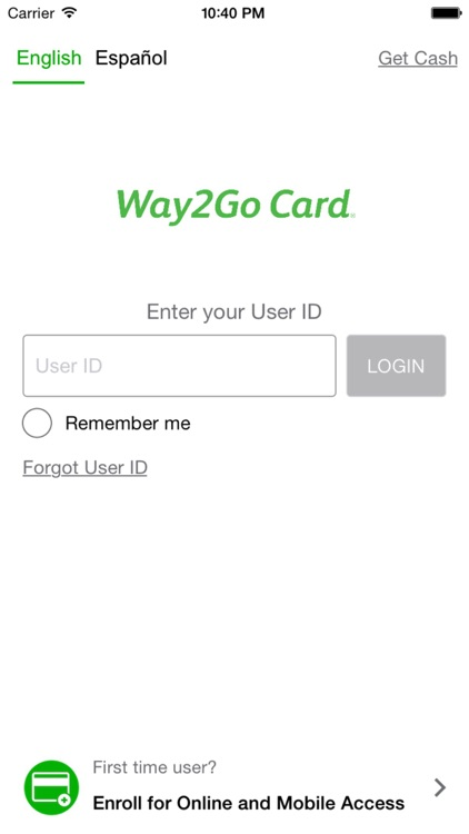 Go Program Way2Go Card