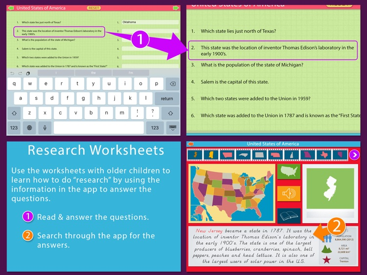 United States Of America LITE - A Montessori Approach To Geography screenshot-4