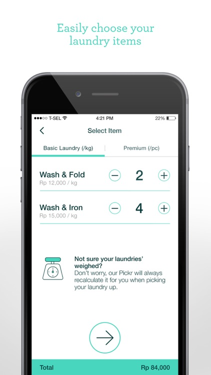 Taptopick - On-demand Laundry