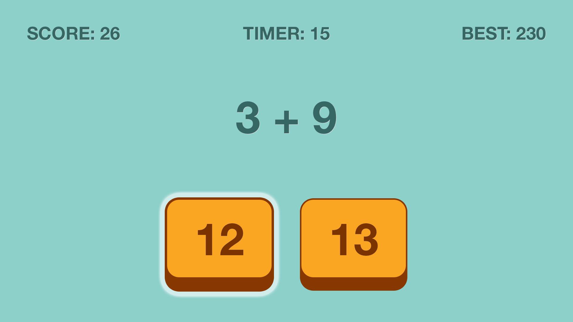 Add Up Fast Math Puzzles screenshot 1