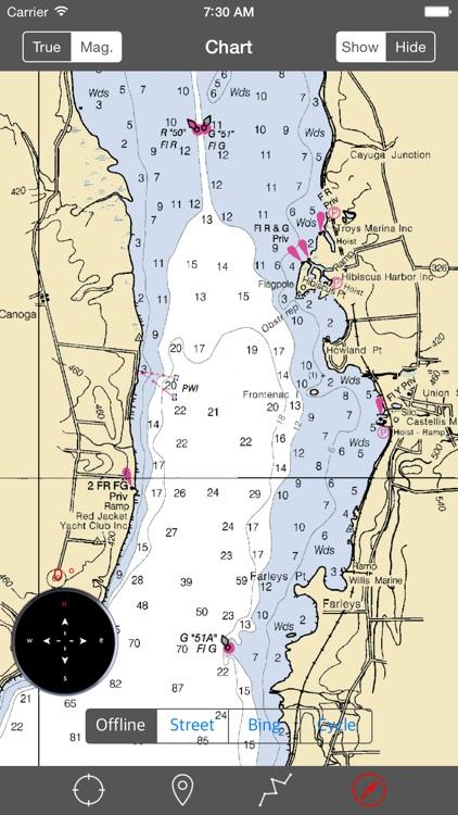 Cayuga-Seneca Lakes (New York) - Raster Nautical Charts screenshot-3