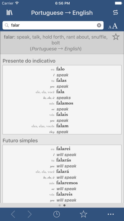 Portuguese-English Translation Dictionary and Verbs