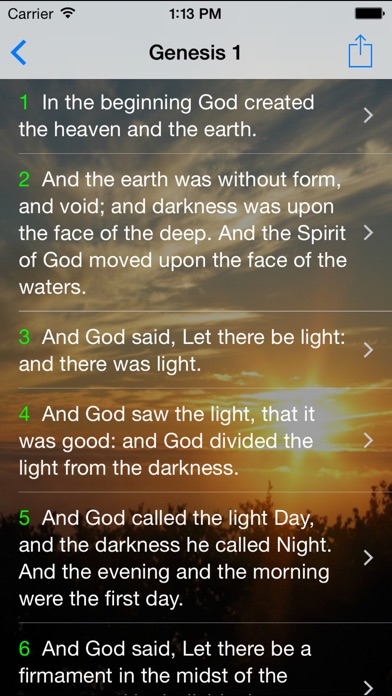 Screenshot for The Holy Bible FREE: King James Version for Daily Bible Study, Readings and Inspirations! in United States App Store
