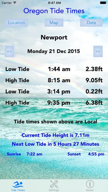 Oregon Tide Times screenshot-4