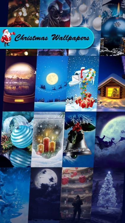 Christmas Wallpapers & Backgrounds Pro - Xmas Tree, Cards, Light & Santa Claus Retina Images