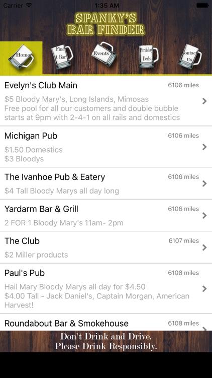 Spanky's Bar Finder