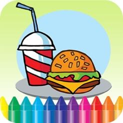 Makanan Buku Mewarnai Menggambar Lukisan Untuk Anak Game Gratis Di