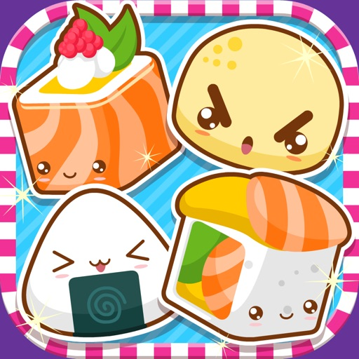 Kawaii Sushi Monster Busters - Line Match puzzle game