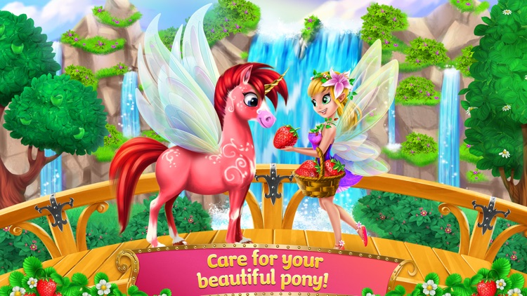 Princess Fairy Rush - Pony Rainbow Adventure screenshot-3