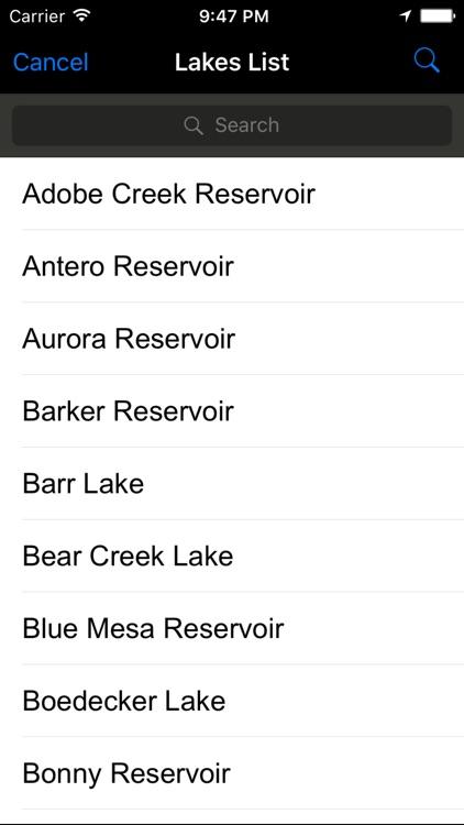Colorado: Fishing Lakes