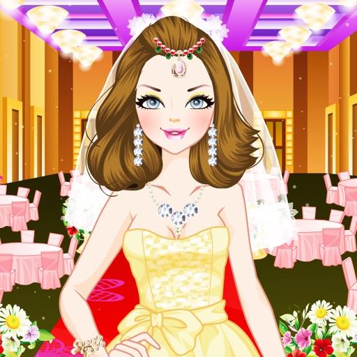 给新娘化妆