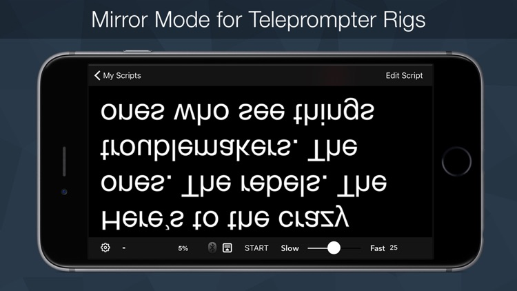 Teleprompter Pro - Script, Speech and Lyrics Prompter + screenshot-2