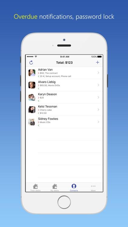 IOU - debt manager screenshot-3