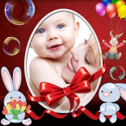 Happy Easter Picture Frames and Stickers