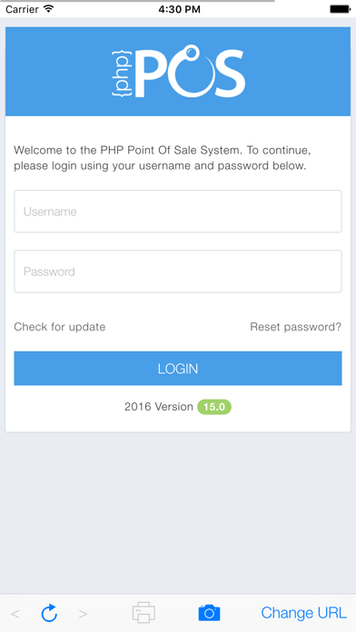 PHP Point Of Sale screenshot one