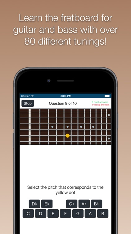 Fretboard Trainer - Learn the notes for guitar and bass
