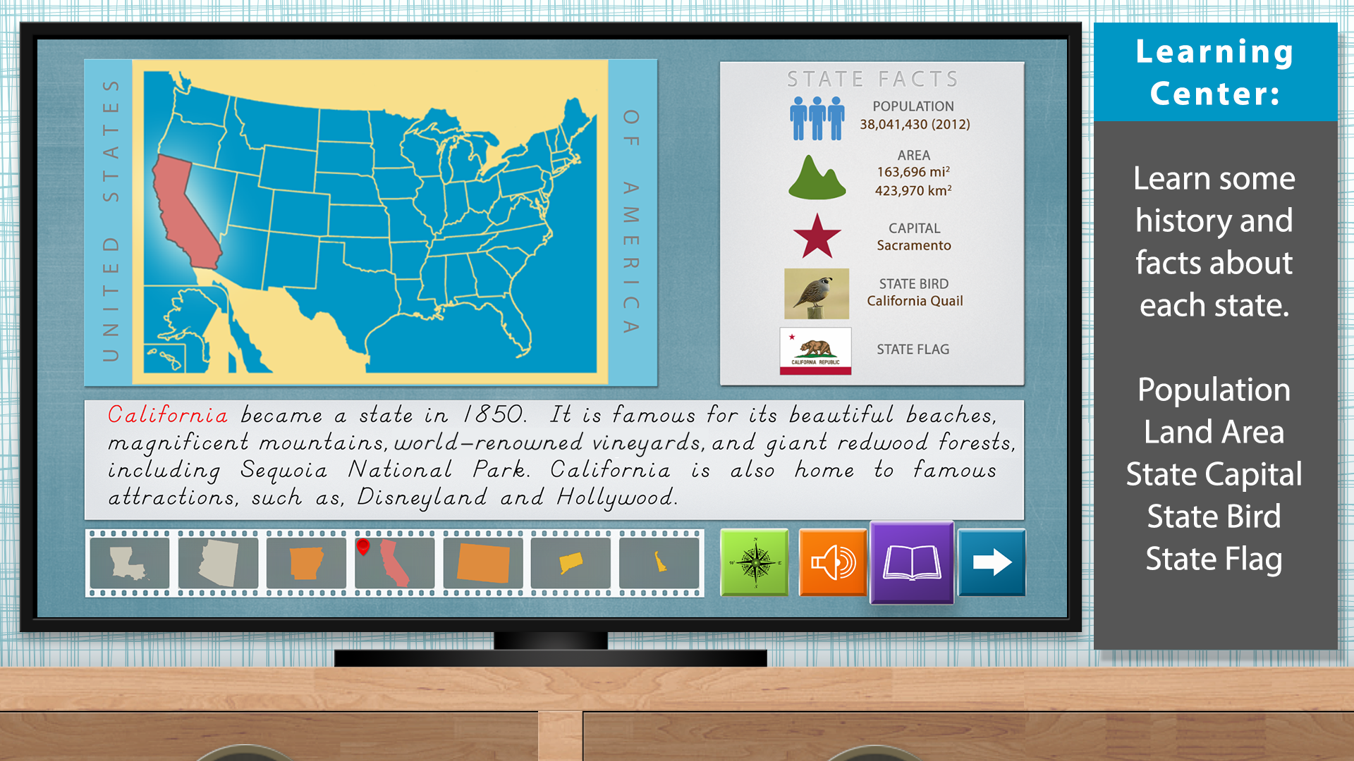 The United States of America - Geography by Mobile Montessori screenshot 2