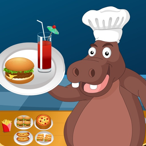 Hippo's Fast Food Restaurant - Free Game For Kids