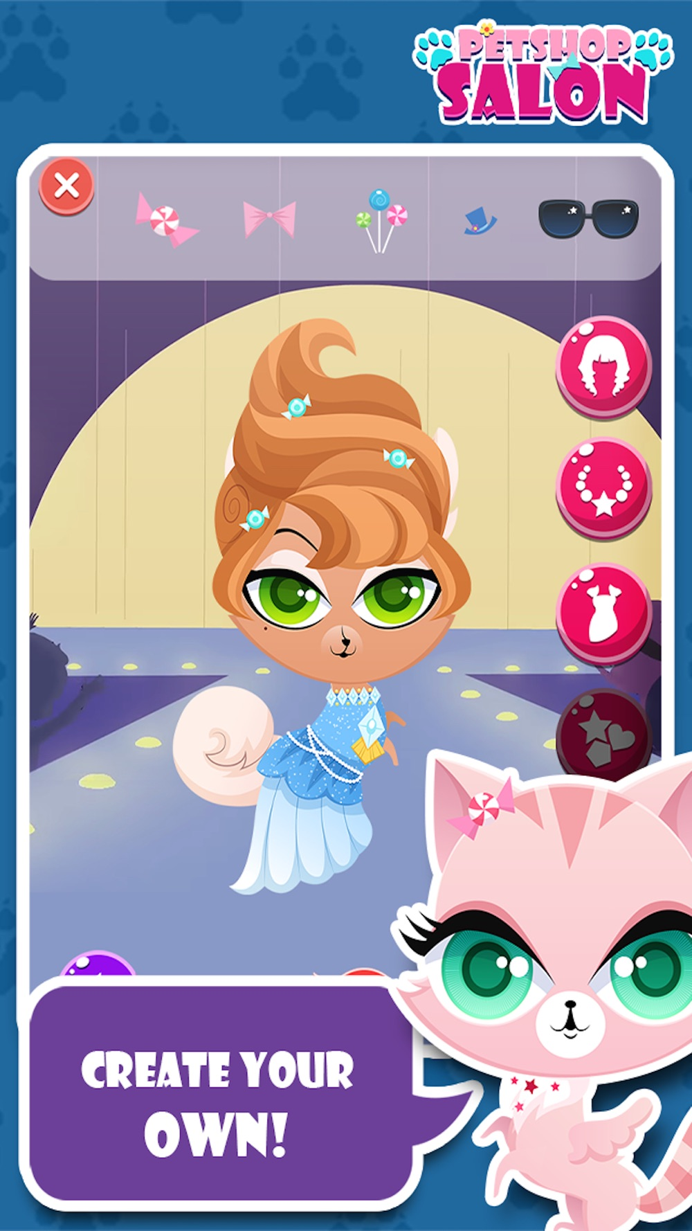 Little Pet Salon & Spa Palace : The Royal cute cat & dog Family Puppy shop Game hack tool