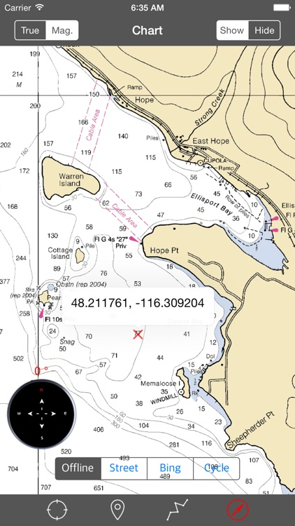 Lake Pend Oreille (Idaho) – Raster Nautical Charts screenshot-3