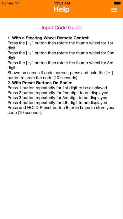 Renault Radio Code screenshot three
