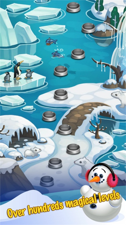 Ice Bubble Shooter Snowman