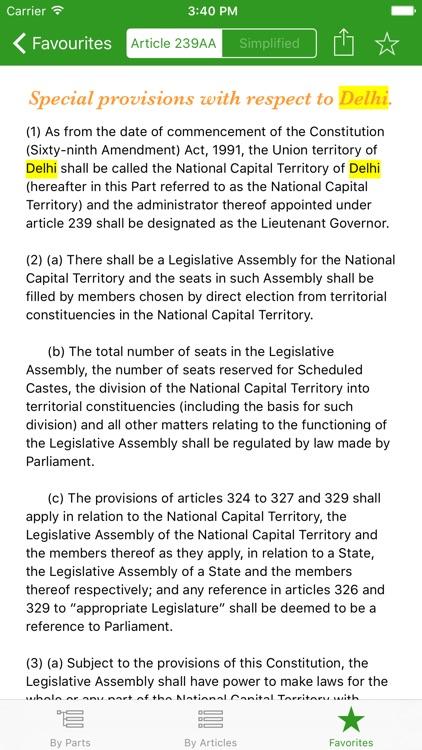 Constitution of India - iConstitution screenshot-4