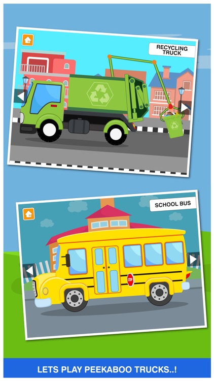 Peekaboo Trucks Cars and Things That Go for Kids screenshot-3