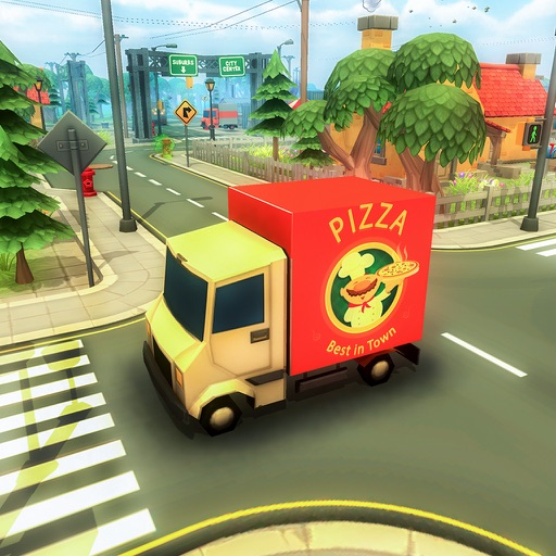 Blocky Truck Pizza Craft 3D