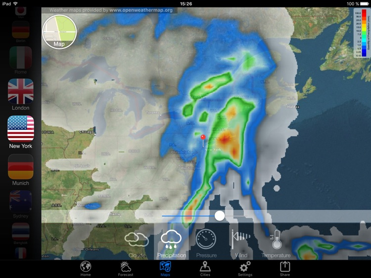 Weather Now Forecast for iPad screenshot-3