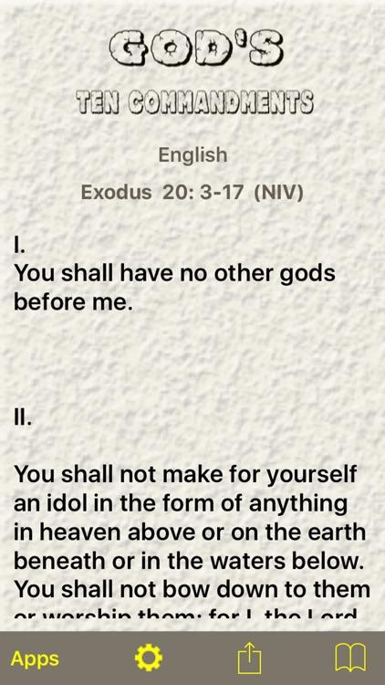 God's Ten Commandments