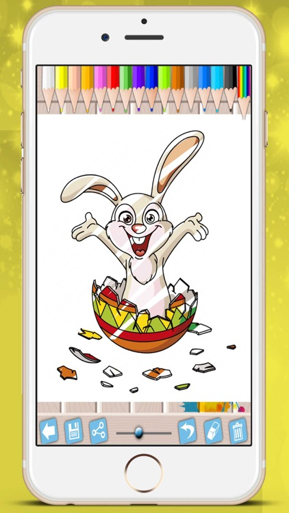 Easter chocolates picture book - paint Raster eggs bunnies coloring game kids