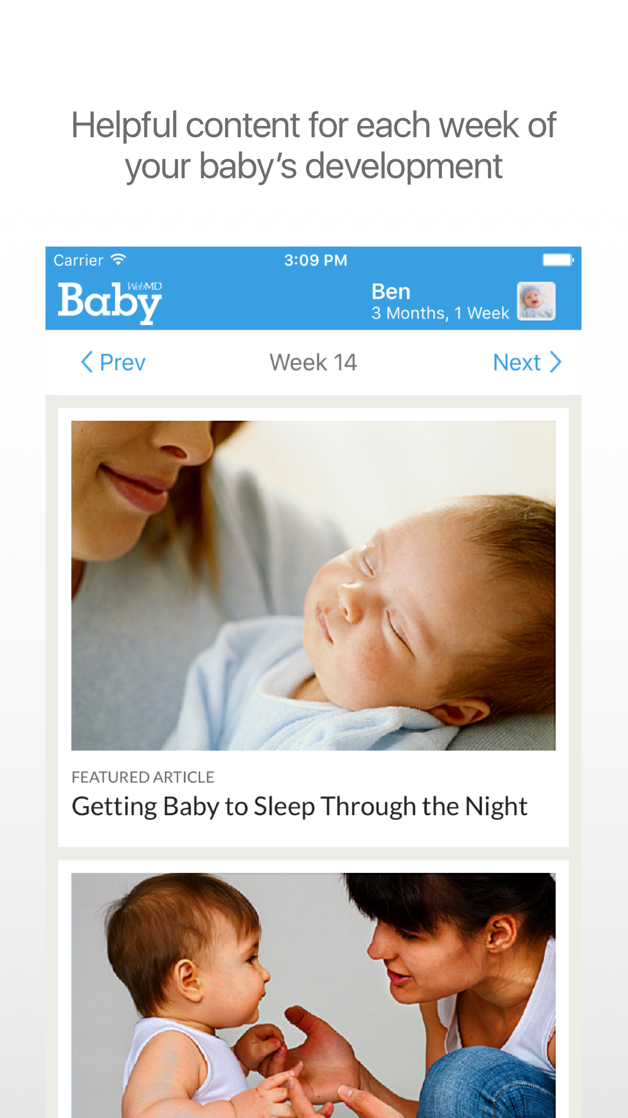 WebMD Baby Screenshot
