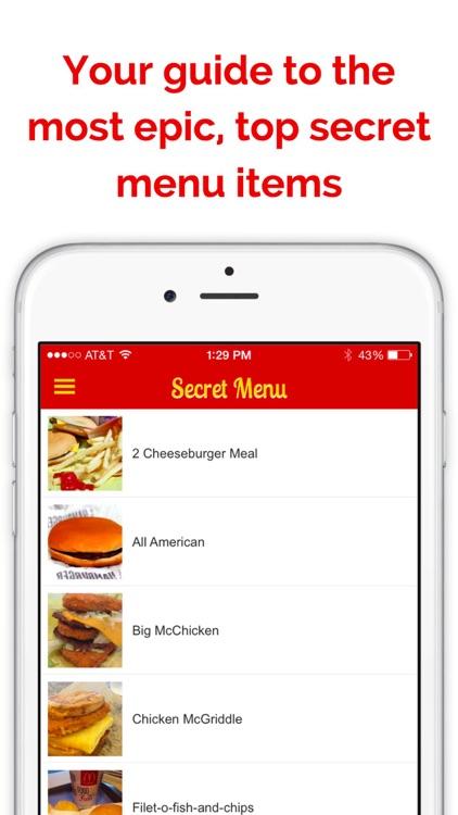 Secret Menu for McDonald's