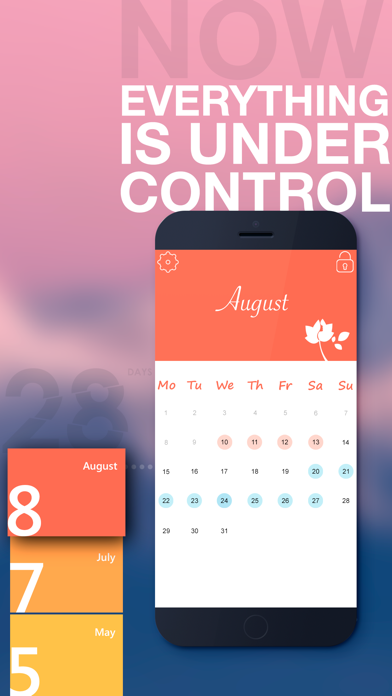Lotus - 生理日予測、排卵日 計算のおすすめ画像1